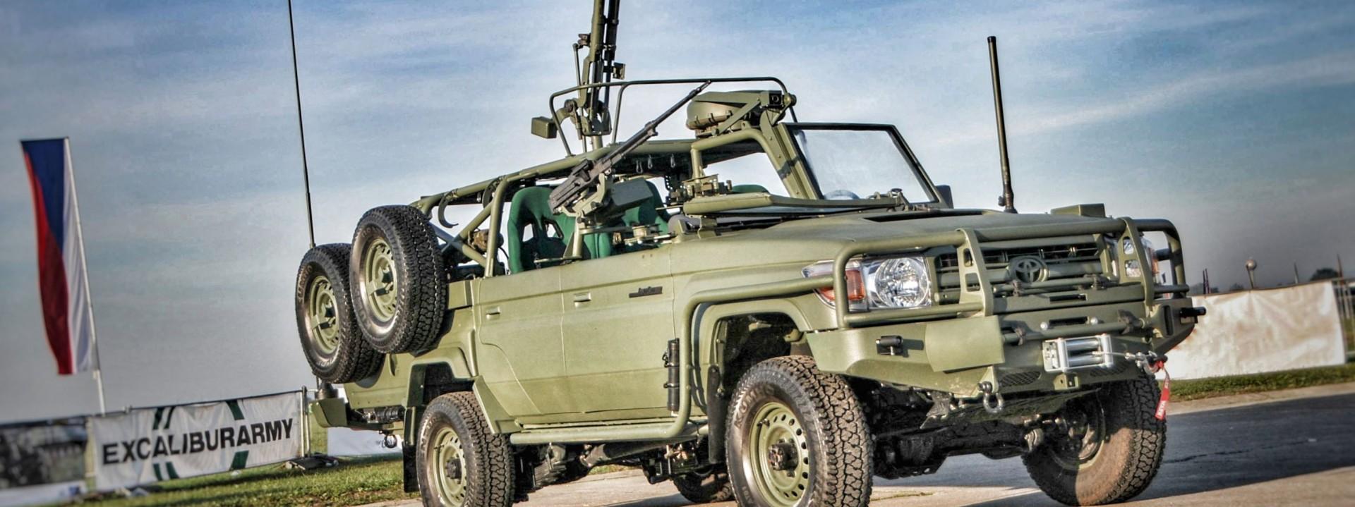 Resultado de imagen para Gepard, a new 4x4 vehicle based on the Toyota Land Cruiser Model 70